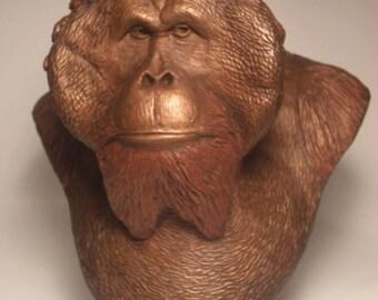 The King Orangutan Sculpture bust