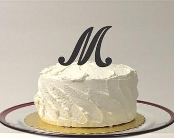 MONOGRAM INITIAL M- Wedding Cake Topper  Personalized Monogrammed Wedding Cake Topper Custom Cake Topper Any Letter