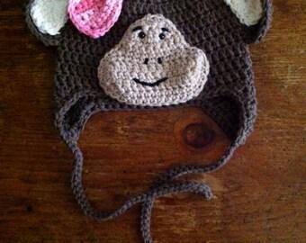 Monkey Toddler Beanie