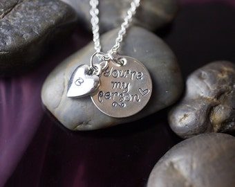 Sale You Re My Person Necklace Personalized Initial
