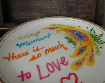 So Much to Love- Hand-painted Jewelry Dish