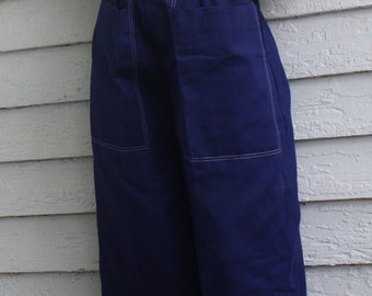 High Waisted Blue Capri Pants Pinup Rockabilly Lorch Hobbies Dallas New Old Stock 60s Vintage XS S
