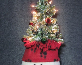 "Snowman pattern:  ""Snowman Tree-on-Top"" - #648"