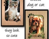 Personalized name frame mat for your favorite pet photo dog, cat pet lover gift
