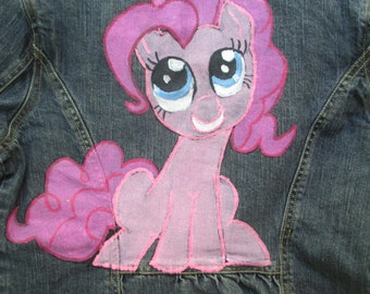 My little pony, friendship is magic, my little pony, pinkie pie, hand draw, hand painted, girls jacket, girls clothes, cartoons, jacket