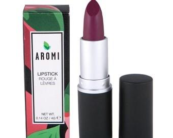 Merlot Lipstick - Plum-Maroon.  Vegan & Cruelty-Free Lipstick. Sheer Plum Maroon Lipstick