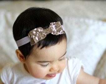 Bow sequin headband