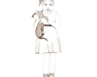 The Animal Lover - A3 Giclee print