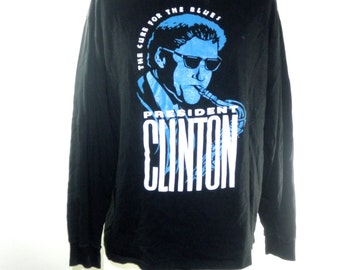 Bill Clinton for President - Long Sleeve Tee by Cross Colors