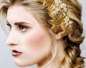 Gold Headpiece, Bridal Headpiece, Wedding Headpiece, Bridal Hair Piece, Bridal Hair Comb, Wedding Comb,Grecian Goddess