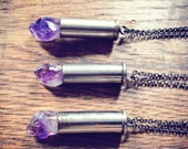Amethyst Bullet Necklace
