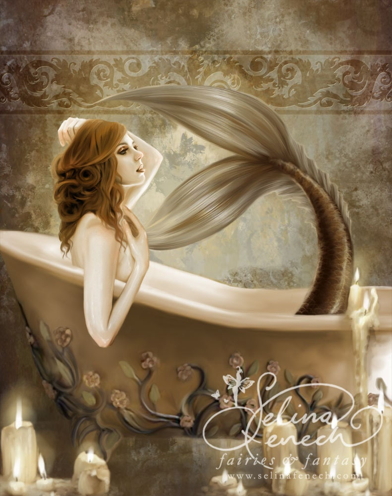 Bathtime 8x10 Art Print By Selina Fenech