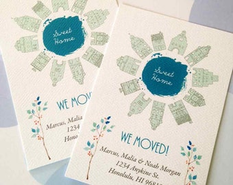 Change of Address Cards, Moving Cards, Set of 12