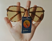 Vintage Circle Sunglasses - Round Tortoise Shell Sunnies - 1980s Shades - Corning Chameleon - Vtg Glasses - Holiday Gift For Her
