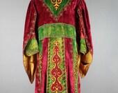 Antique Red Mason Robe . Wizard Renaissance King Prince Medieval . Odd Fellows .