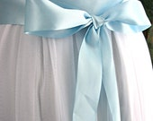 Light blue wedding sash, bridal sash, bridesmaid sash, bridal belt, 1.5 inch satin