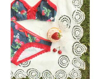 Bra And Panties Set Selene In Vanilla Blush Seafoam By