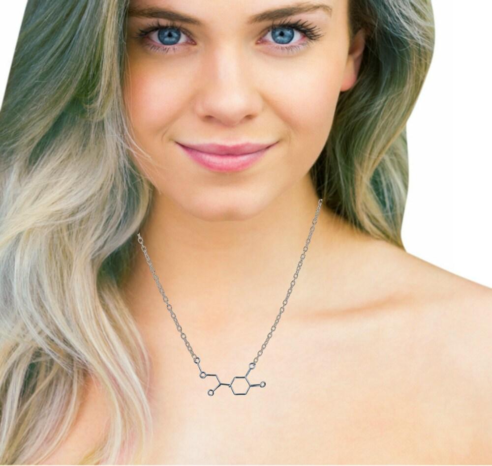 Adrenaline Molecule Necklace - Adventure Sports Chemistry Jewelry