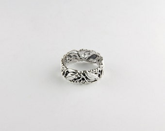 Birds in Branches Sterling Silver Ring