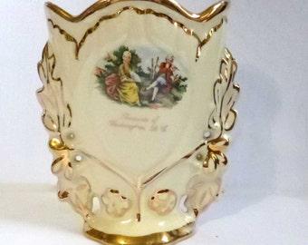 Vintage Capsco Washington D.C. Souvenir Vase