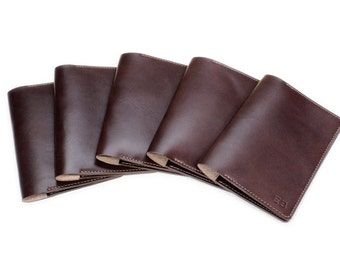 Destination Wedding Party Gifts for Bridesmaids and Groomsmen Set of 5 Leather Passport Holders
