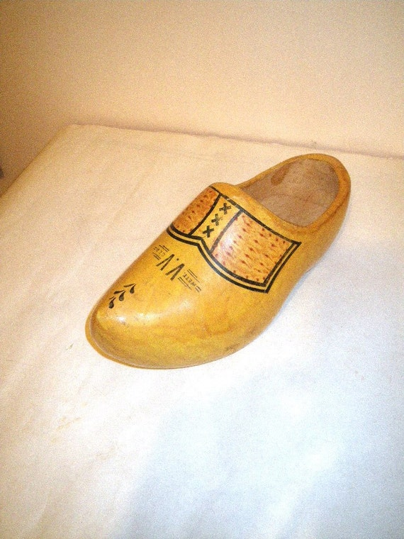 Items similar to large wooden clog dutch shoe for