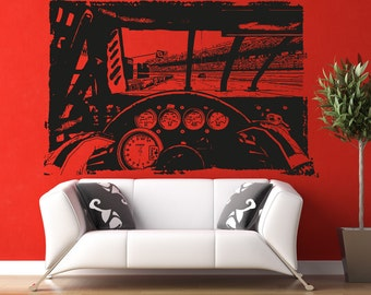 Vinyl Wall Decal Sticker Nascar Driving 5107s