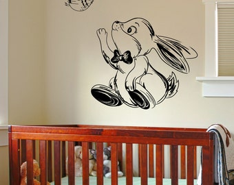 Vinyl Wall Decal Sticker Happy Bunny and Bird 1351m