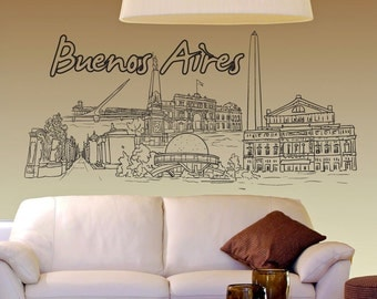 Vinyl Wall Decal Sticker Buenos Aires 1402s
