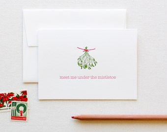 Mistletoe Letterpress Holiday Card