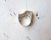 RING sterling silver contemporary jewelry geometric - Angular Collection