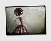 """Illustration """"1900"""" - 11x 8 or 16,5x8 inches  fine art print - Signed - Printed by a professional"""