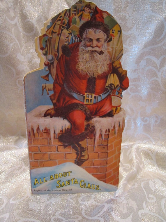 All About Santa Claus Book Vintage Merrimack Publishing Company New York NY