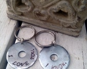 Set of 2 Matching Key Chains / His and Hers / Star Wars Keychain / Funny Key Chain / Upcycled Accessories