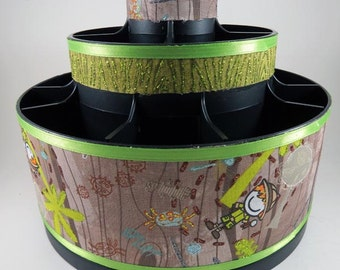 EXPLORE BUGS!  - Altered Pampered Chef Tool Caddy - make up brush organizer