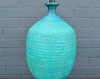 Mid Century Quartite Creative Corp Pottery Table Lamp