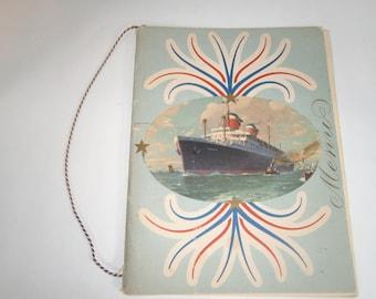 Cruise Menu United States Line SS America 1952