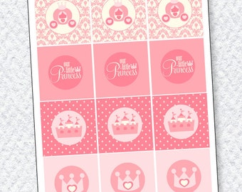 Princess Party PRINTABLES Party Tags from Love The Day