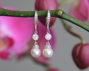 Bridal earrings, bridesmaid earrings, cz earrings, wedding jewelry, bridal jewelry, wedding earrings, bridal earrings, bridesmaid earrings