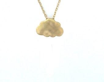 Rain Cloud Necklace.Gold Cloud Necklace, tiny cloud