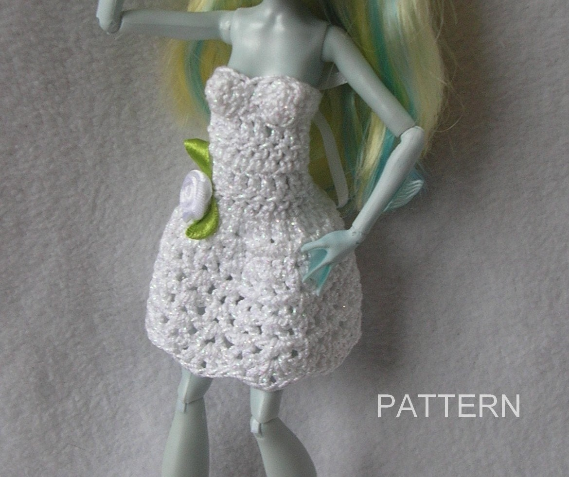 Monster high doll crochet dress pattern ever after barbie doll monster high doll crochet dress pattern ever after barbie doll clothing thread crochet repaint bankloansurffo Image collections