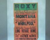 Vintage Movie Poster, RoxyMovie Theatre, Michigan, 1950