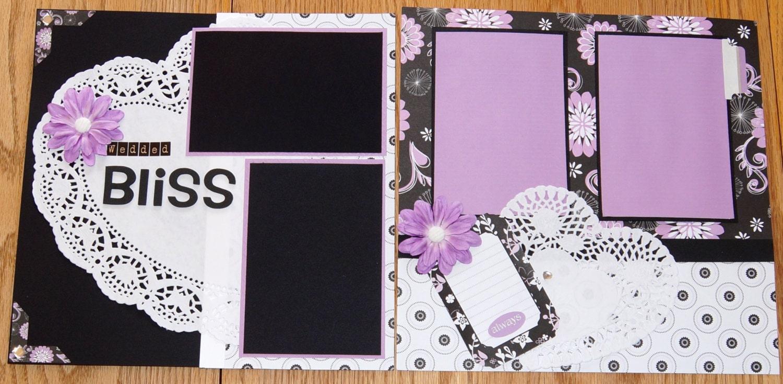 Premade Wedding Scrapbook Album Pages By PaperPrettiesandMore