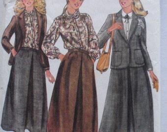 Rena Rowan, Jones New York Sewing Pattern - Lined Jacket, Blouse, Skirt and Handkerchief - Butterick 6326 - Size 10, Bust 32 1/2