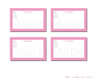 PRINTABLE Baby Girl Christening/Baptism Party Label Tents (Personalized) #601