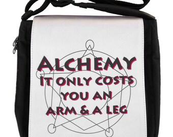 Fullmetal Alchemist Messenger Bag Medium: Alchemy Only Costs You an Arm and a Leg