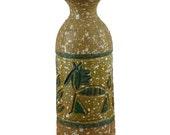 Italian Pottery Vase Hieroglyphic Horses and Trees