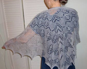 Forgotten Wings Shawl, Triangular