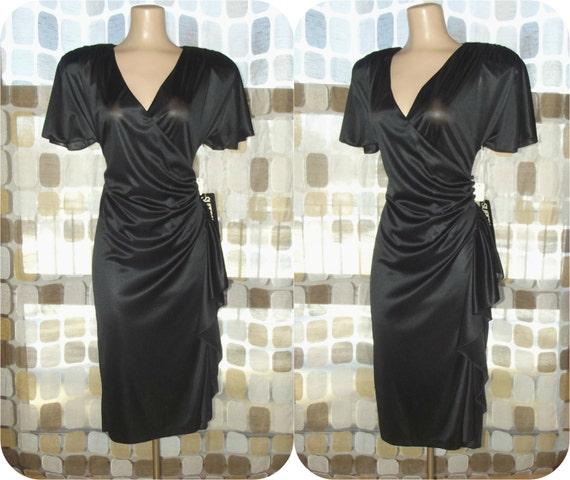 robe vintage des ann es 70 des ann es 1970 robe portefeuille. Black Bedroom Furniture Sets. Home Design Ideas