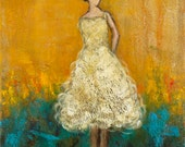 Figurative painting Expressionism Art  Dancer Standing By 16 x 20